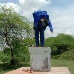 Banda - Ambedkar statue broken again in Pachokhar village, villagers are angry