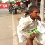 Children are going to the streets by scraping junk