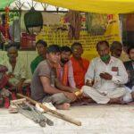 Divyang of Piparihari village on hunger strike for their demands
