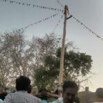 in panna people celebrating lath maar holi