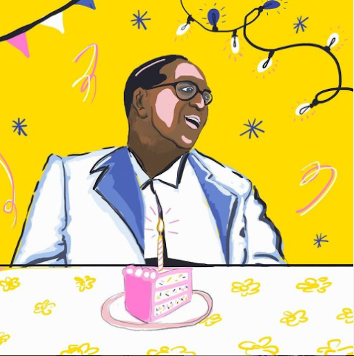 Art on the occasion of Babasaheb Ambedkar's birthday by Shrujana Niranjani Shridhar.